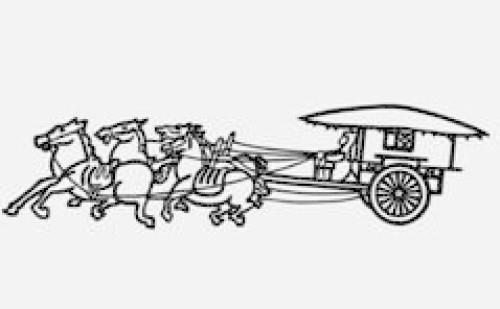 古代马车简笔画步骤
